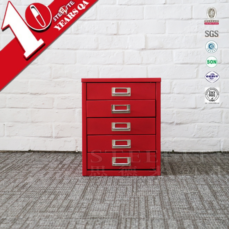 Office furniture colorful table top storage cabinet metal drawers