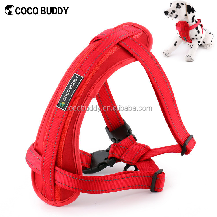 Wholesale Pet Car Safety Seat Service Dog Chest Plate Harness Vest Reflective