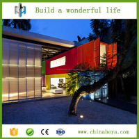 Portable folding prefab container house