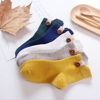 new design lovely baby socks with button
