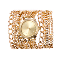 Latest Popular Hawaiian Style Metal Chain Geneva Watch For Women Watches
