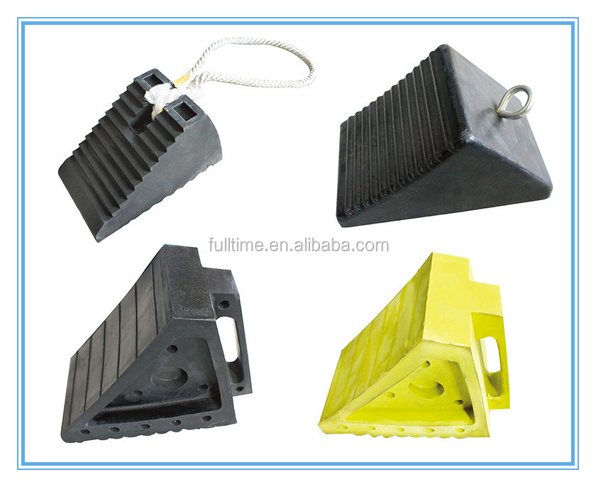 Double-Side Pyramid Rubber Wheel Chock