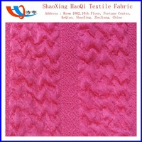 2015 Shaoxing HaoQi Textile direct from factory wave pattern knitt polyester spandex jacquard special finished fabric