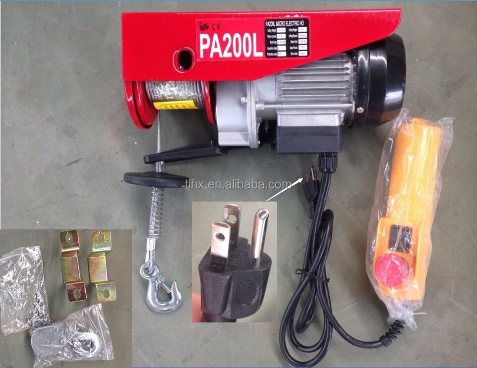 Pa400 doble gancho mini polipasto de cable el ctrico 400 - Cable electrico barato ...