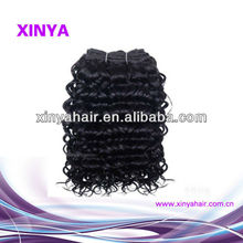 Factory price #1b virgin remy Mongolian human hair weaving water curl