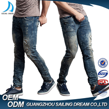 Hot sale top 10 jeans brands new pattern fashion rip men jeans pants price with custom design