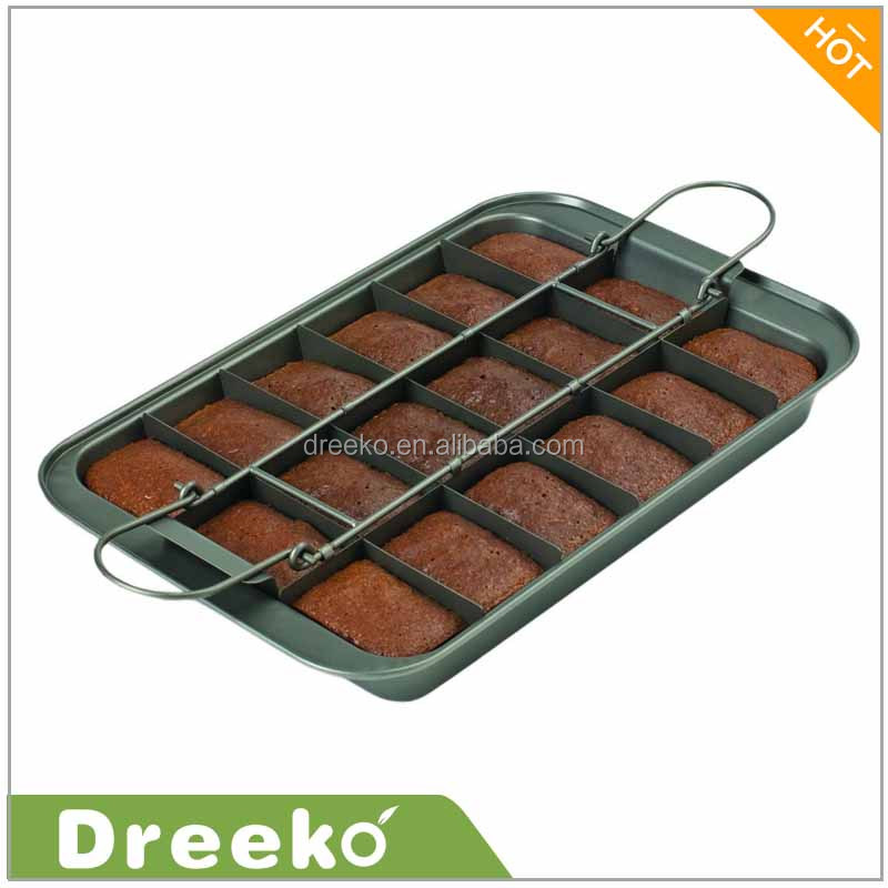 "9 x 13"" Silver Slice Solutions Brownie Baking Pan"