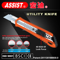 Hand tools office pocket retractable stainless steel safe slide 18mm professional cutter utility knife folding utility knife