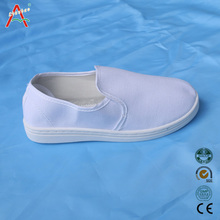 white plain Canvas ESD safety shoes for food factory