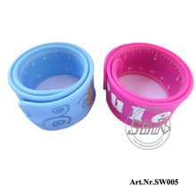 Hot selling custom ruler silicone slap bracelets