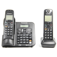 KX-TG6642B DECT 6.0 Digital wireless phone Black Cordless Phone for panasonic with Answering system