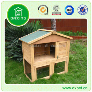 Wooden outdoor rabbit hutch DXR020