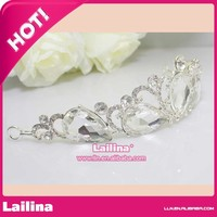 Alibaba Hot Sale Tall Big Large Pageant Crystal Round Tiara Crown