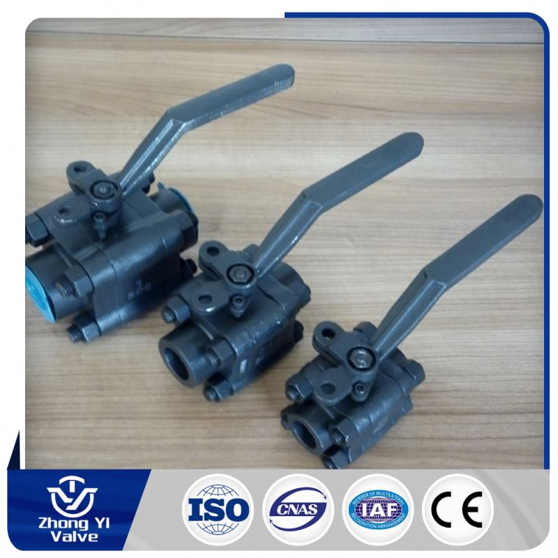 3pc forged ball valve with locking device