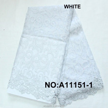 High Quality White African Swiss Voile lace French Organza