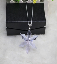 Factory directly sale hot seller purple color 5pcs/lot high quality snowflake design crystal christmas pendant