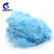 China 100% recycled polyester staple fiber/solid polyfiber made from pet flakes for spinning yarn and stuffed toys