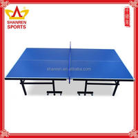 Custom logo 15mm thickness easy moving table tennis table