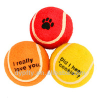 eco friendly tennis ball pet toys for dog bite