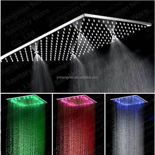 Showers Bathroom Faucet Accessory Type LED rainfall bathroom shower head with temperature display for bath shower