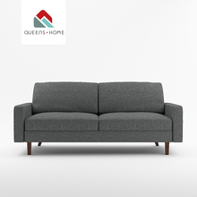 Queenshome designer meubles modern guangzhou indoor <strong>furniture</strong> majlis futon black fabric floor couch living room sofas