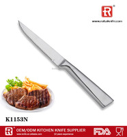 High-grade atmosphere 6pcs stainless steel steak knives set with wooden block