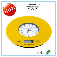 5kg Round Clock Digital Kitchen Food Scale