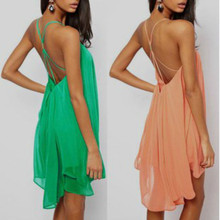 F20019A Super purchasing backless off shoulder bandage dress for women chiffon dress