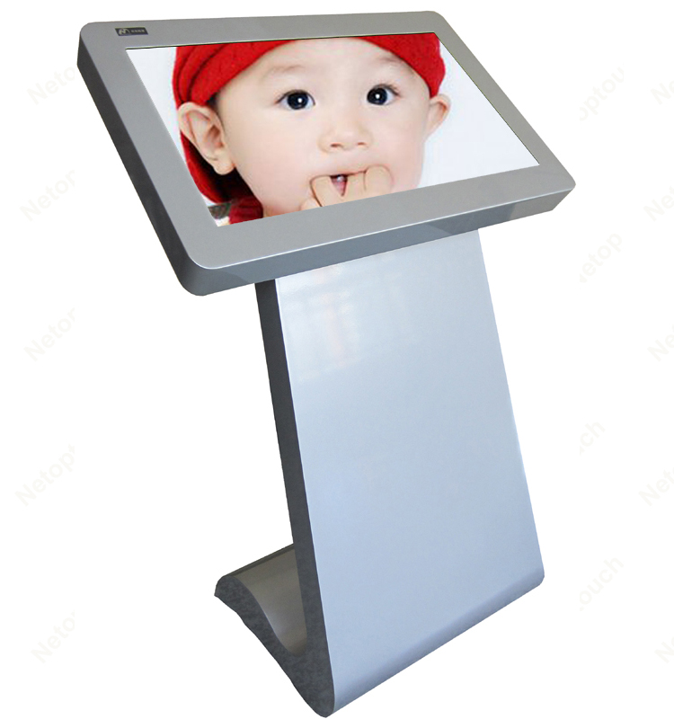 IR touchscreen ad kiosk with LED screen