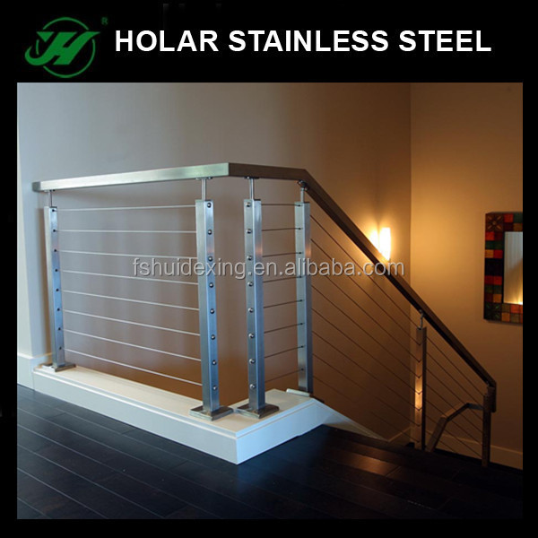 indoor stairs glass railing handrial and post