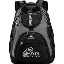 "High Sierra Access 17"" Computer Backpack - built-in padded laptop sleeve with zippered pocket on back and comes with your logo"