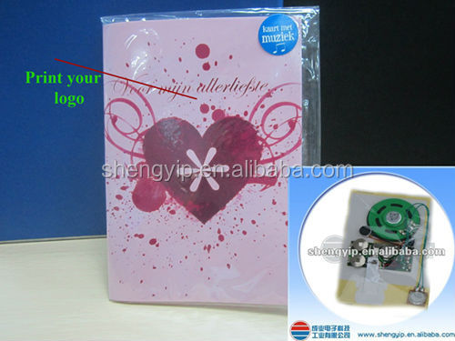 Video greeting card/birthday or christmas greeting card with sound,sound module
