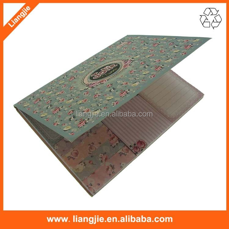 Beautiful flower printed combined sticky pads, adhesive tabs in multi sizes for promotion
