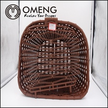 Hot selling pet bicycle basket,bicycle front basket,rattan bicycle basket