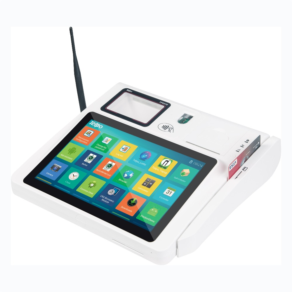 2016 New Product 10 inch Touch Screen POS windows ce handheld pda with smart card reader TPS510