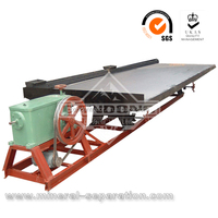 Competitive cost shaker table for gold separation