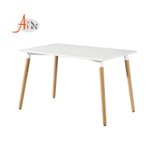 luxury modern design mdf board metal frame Beech wood legs dining table set 4 chairs dining room <strong>furniture</strong>