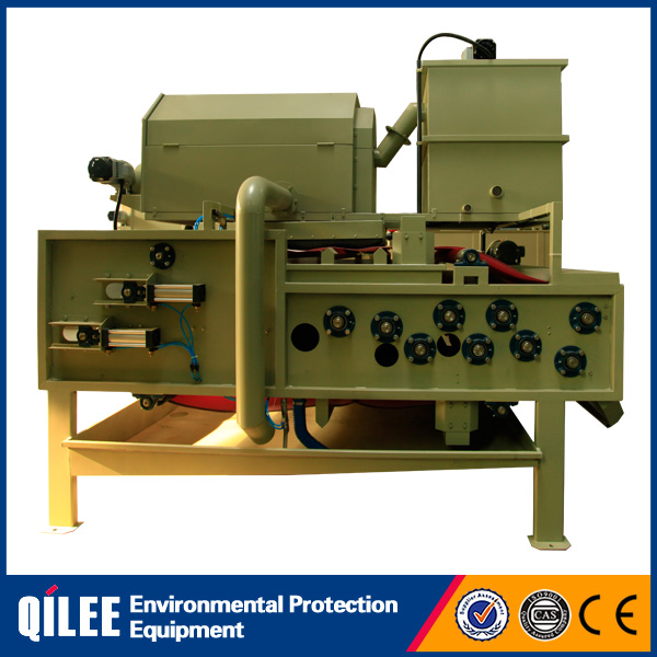 Stainless steel material belt filter machine for slurry dewatering