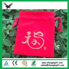 Ring Gourd Velour Bags Printed Your Logo (directly from factory)