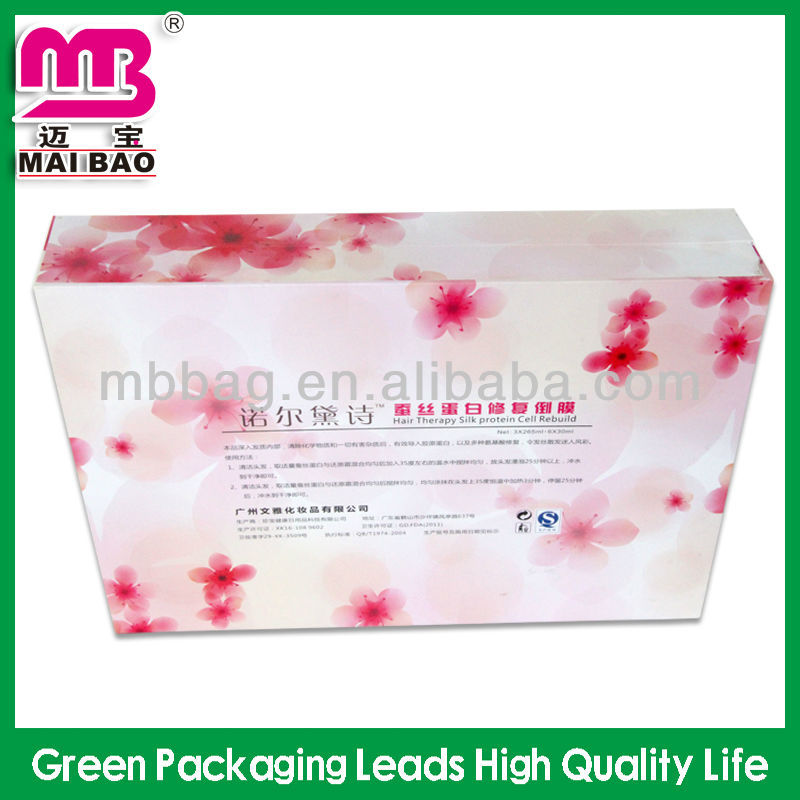 Factory customized logo print paper hair packaging boxes