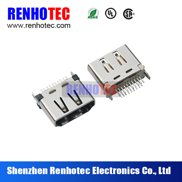 19pin type C HDMI Female connector for PCB