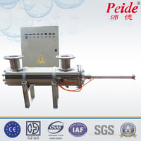 Manual clean ss316 320W flange free 3pc uv lamp swimming pool disinfection uv sterilizer