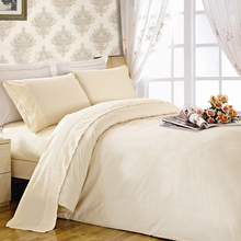 4 pcs embroideried 100% cotton hotel comforter sheets bed bedding set