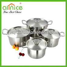 8pcs Luxurious Straight shape Stainless steel cookware set