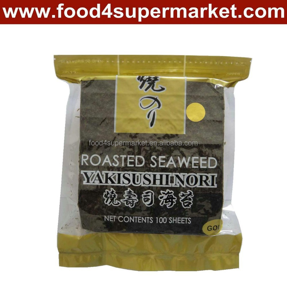 kosher sushi gold nori 100sheets/bag