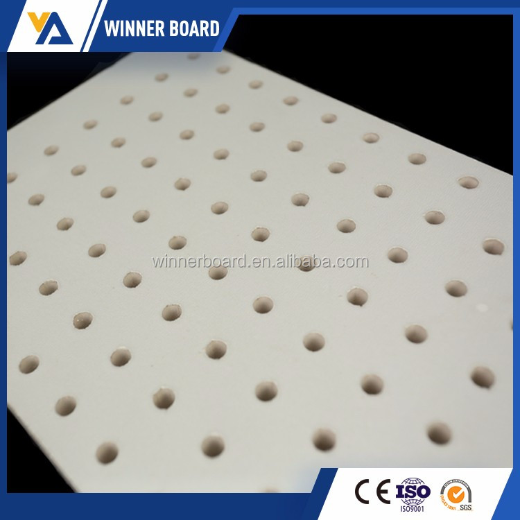 Classic Producer Common Paper Surface Building Materials Perforated Gypsum Ceiling Board