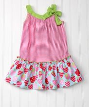 High quality toddler girls boutique stripes tank top strawberry knit cotton clothes baby girl summer frock dresses