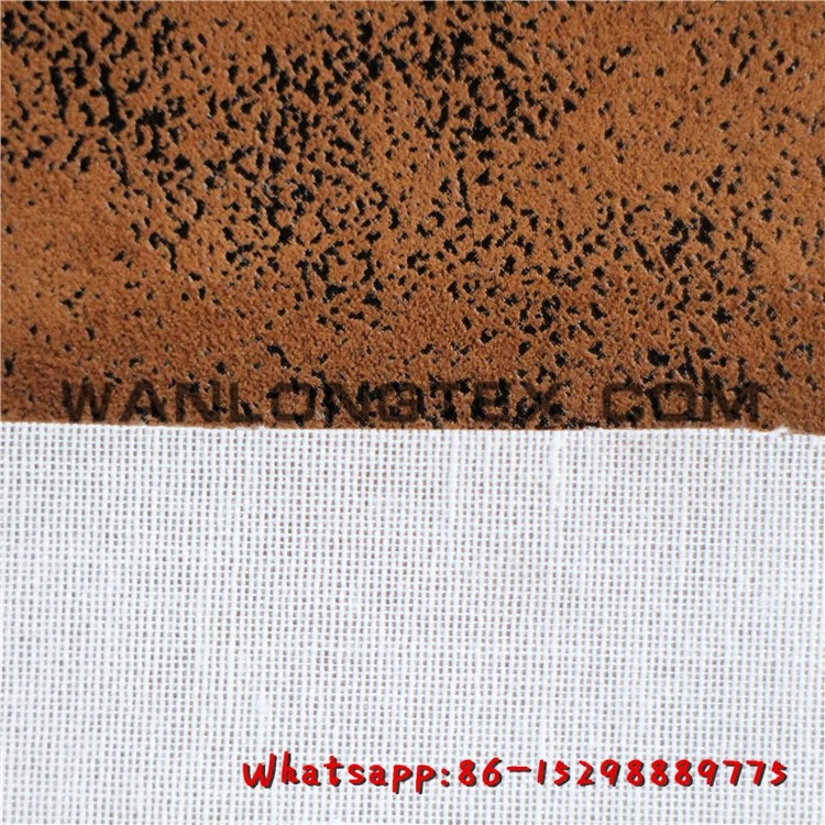 100%Polyester technical polyester fabric microfiber suede for upholstery