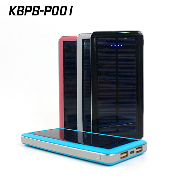 Solar power banks 12000mah dual USB power bank portable battery charger for cell phone