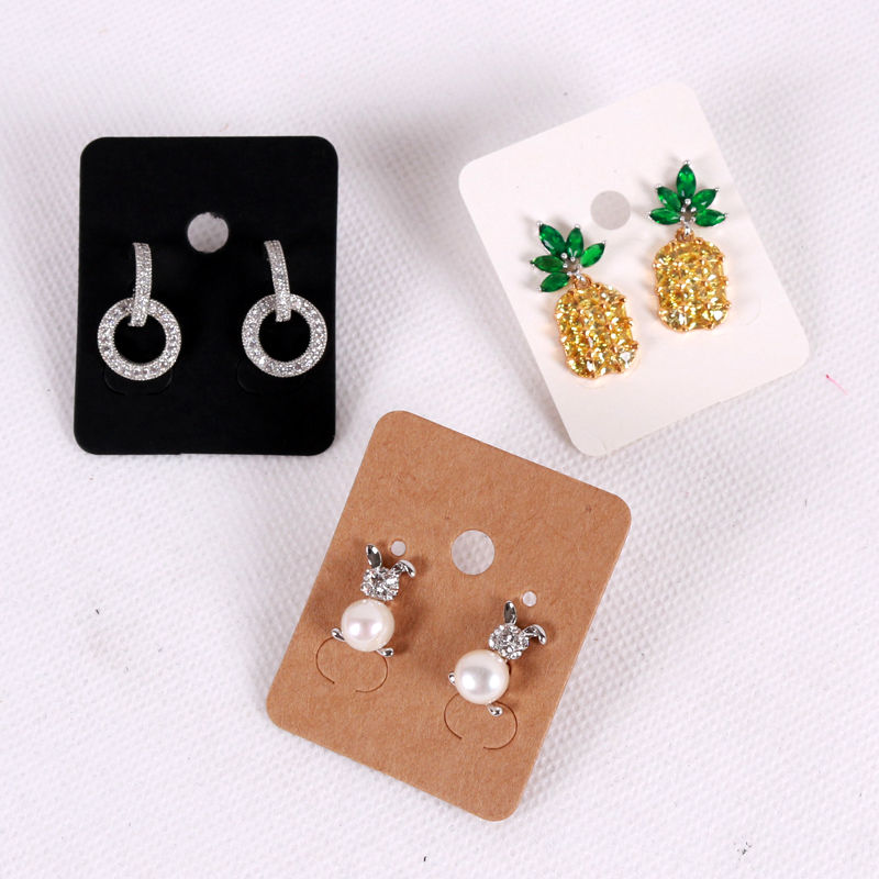 customized printed fashion jewellery earring display paper cards with logo